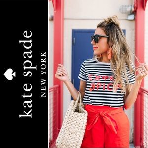Kate Spade New York 'Extra Spicy' Striped Tee